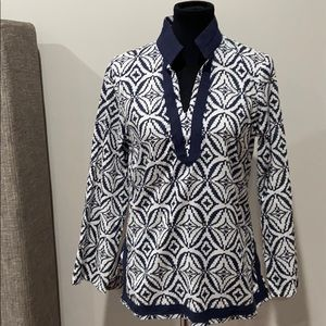 Cynthia Rowley Navy Tunic